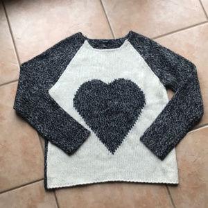 3/$30 Forever 21 Oversized Knit Heart Sweater Med